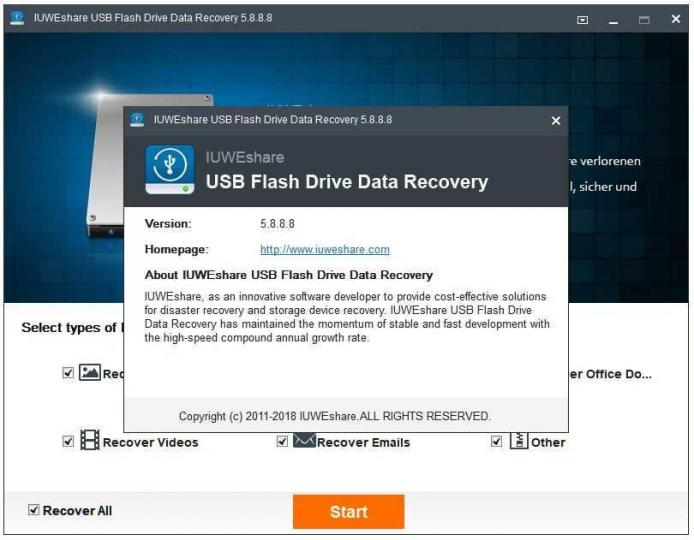 IUWEshare USB Flash Drive Data Recovery 5.8.8.8