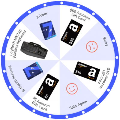 Share to Spin the Lucky Wheel!