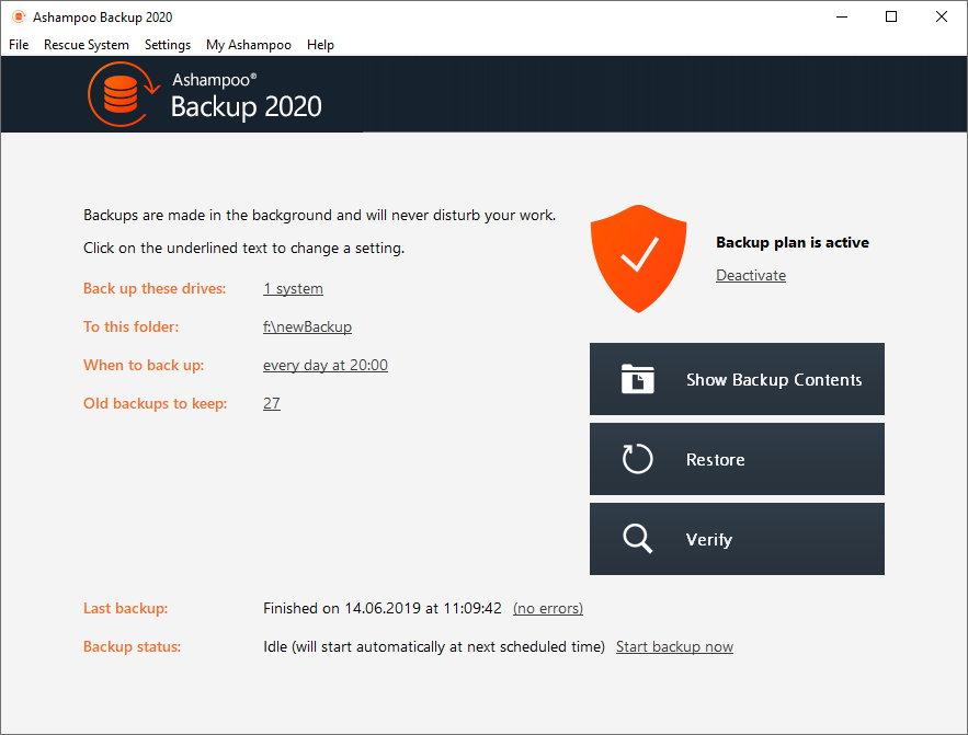 Ashampoo  Backup 2020 v12.06