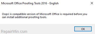 fix:-couldn't-install-office-2016-proofing-tools-(solved)