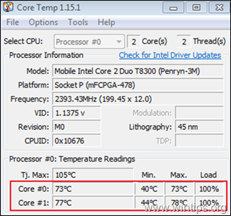 Ho to view laptop cpu temperature