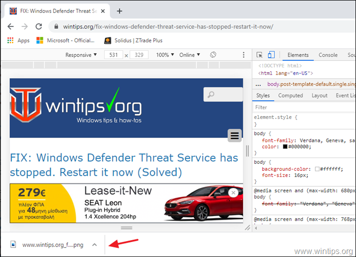 Chrome - Full Page Screenshot
