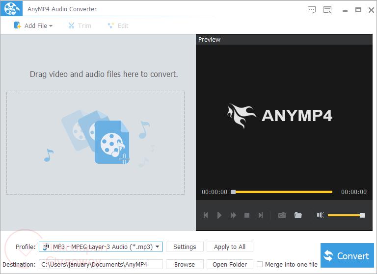 Anymp4 Audio Converter Screenshot